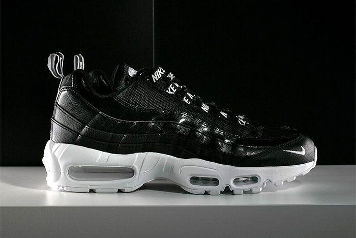 Nike Air Max 95 Black White Overbranding 1