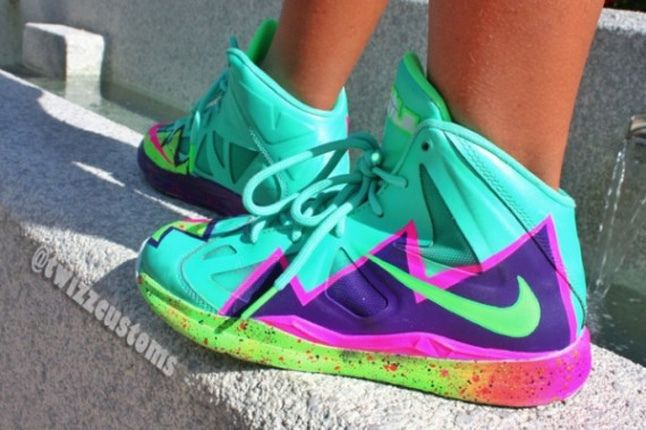 Nike Lebron 10 Gs Custom Pow 1 1