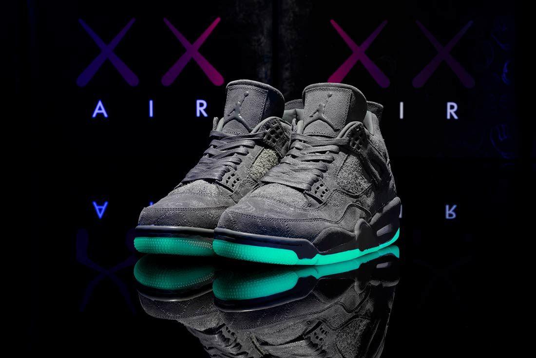 Kaws X Air Jordan 4 Glow In Action10