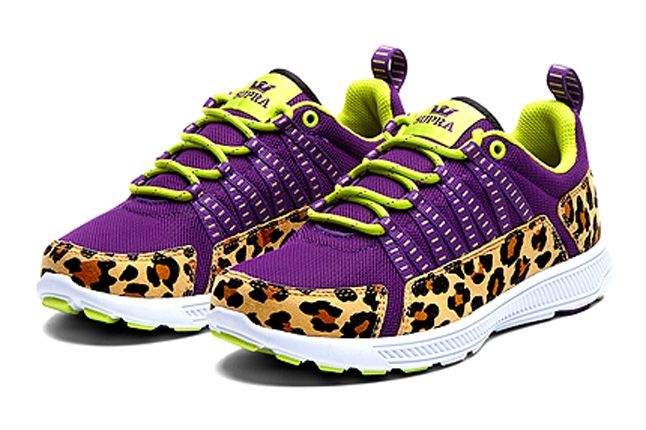 Supra Owen Womens Purple Cheetah Angle 1