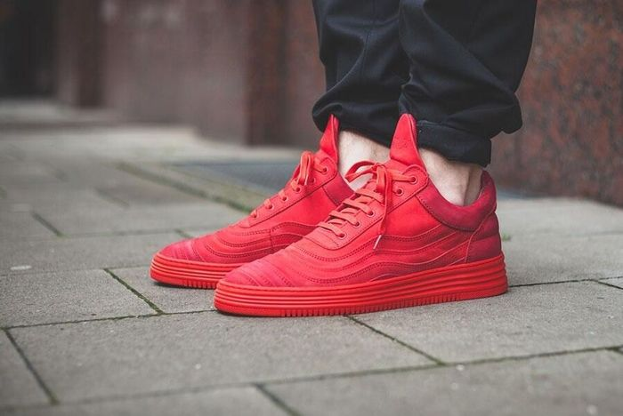 Filling Pieces Low Top All Red 5