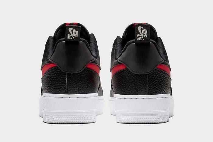Nike Air Force 1 Lv8 Utility Black Red Heels
