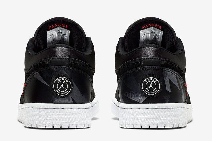 Air Jordan 1 Low Psg Ck0687 001 Release Date 5 Heel