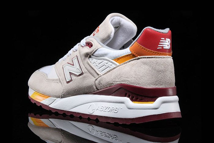 New Balance 998 White Burgundy Curry Made In Usa 3