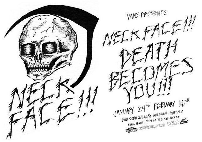 Neckface Exhibition Melbourne 1