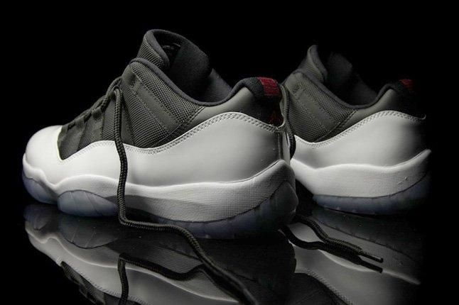 Air Jordan Xi Low White Black True Red Heel Quarter 1