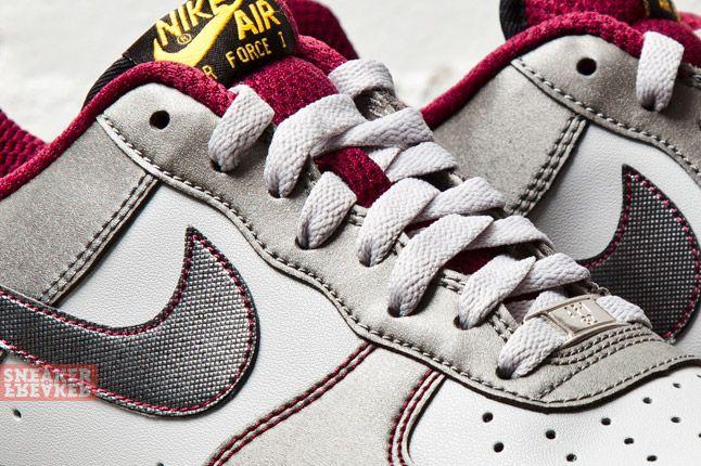 Nike Air Force 1 Dusty Grey Metallic Pewter Cherry 2 Det