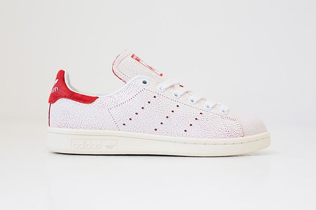 Adidas Stan Smith Cracked Leather White Red