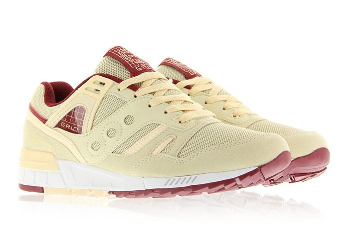 Saucony Grid Sd Cream Burgundy 4