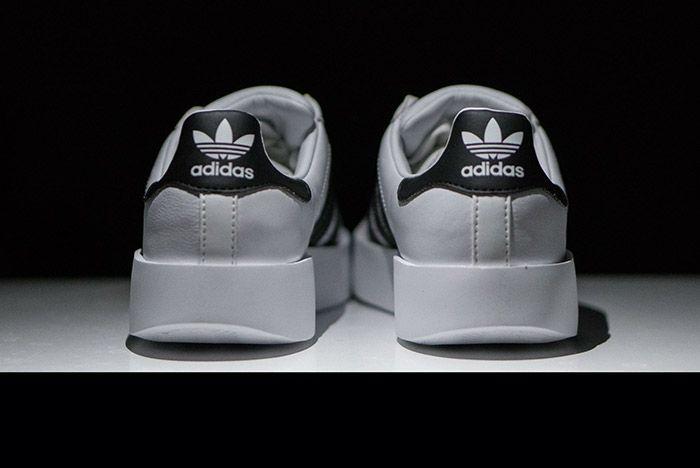 Adidas Superstar Bold White Black Womens 4
