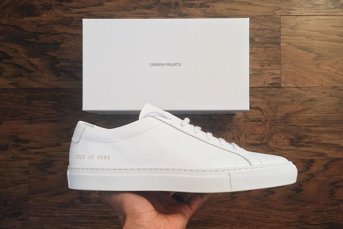common projects white sneaker