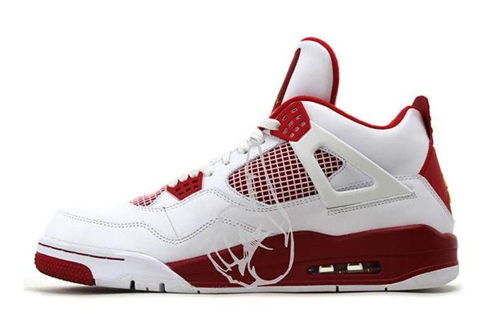 Air Jordan 4 White Red Olympic Pe 2