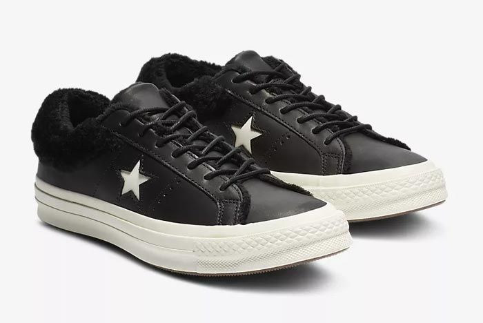 Converse One Star Fur Black 2
