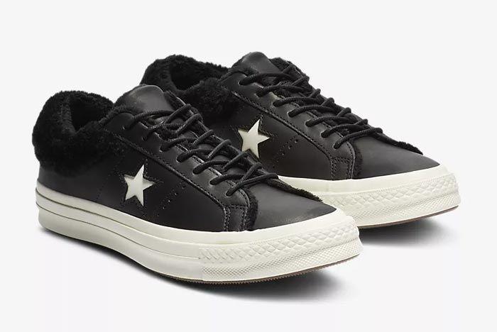 Converse One Star Fur Black 2