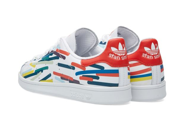 Adidas Stan Smith Whiteredblue 3