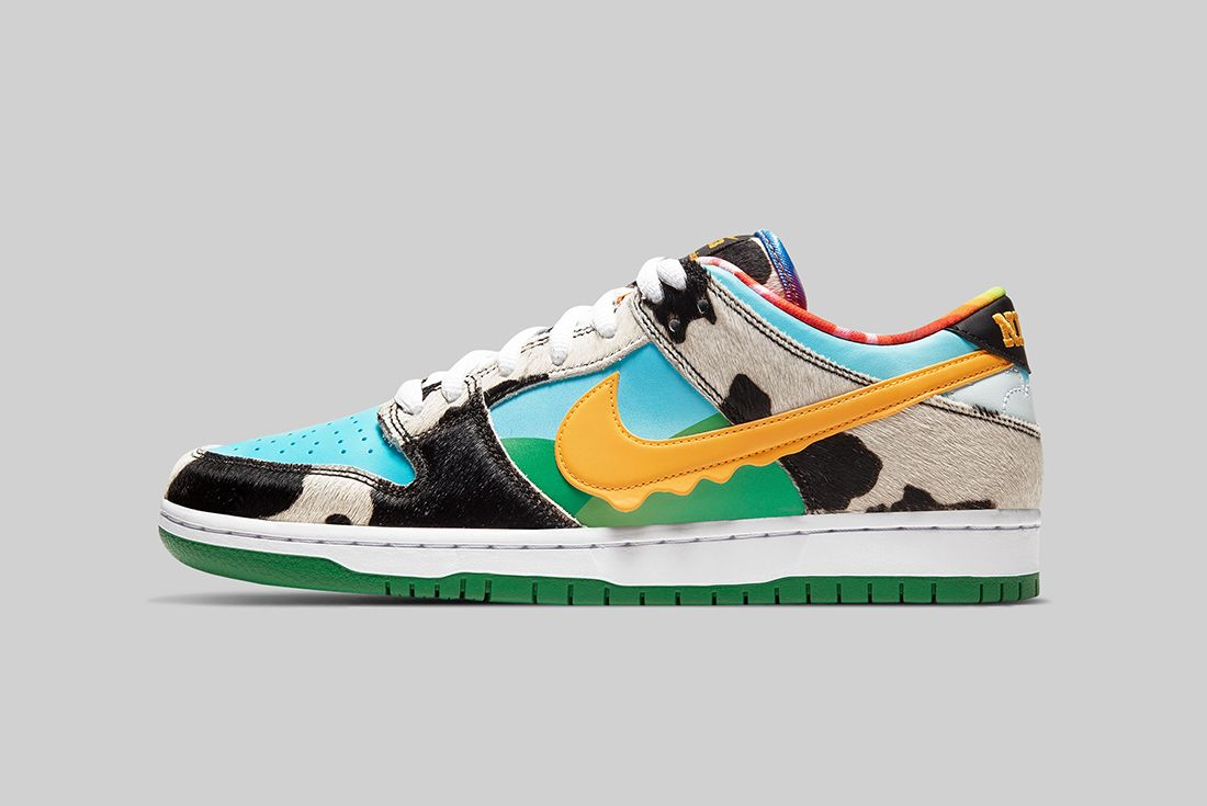 Ben & Jerry's x Nike SB Dunk Low Chunky Dunky Left