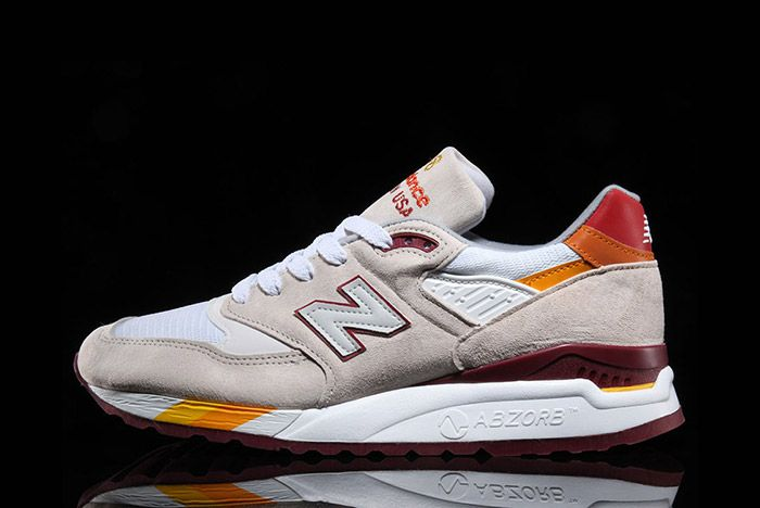 New Balance 998 White Burgundy Curry Made In Usa 4