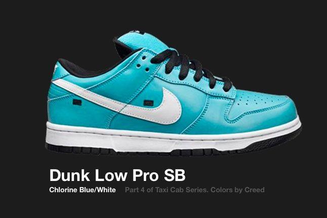 Nike Dunk Low Sb Taxi Cab Series Chlorine 2006 1