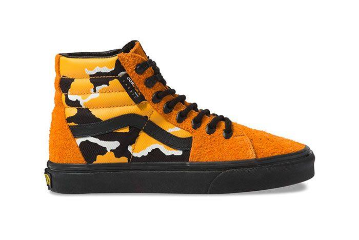 Vans Sk8 Hi Cordura Orange Lateral