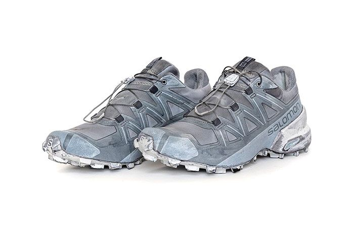 11 By Boris Bidjan Saberi X Salomon Spring Summer 2020 Footwear Blue Low Three Quarter Angled Side Shot