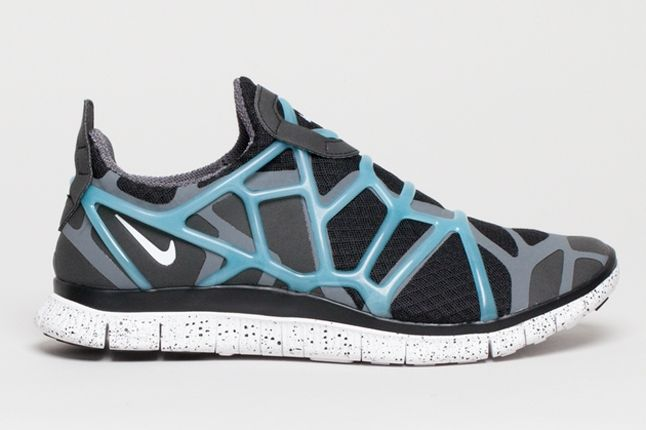 Nike Free Alt Closure Run Drkgrey Blue Profile 1