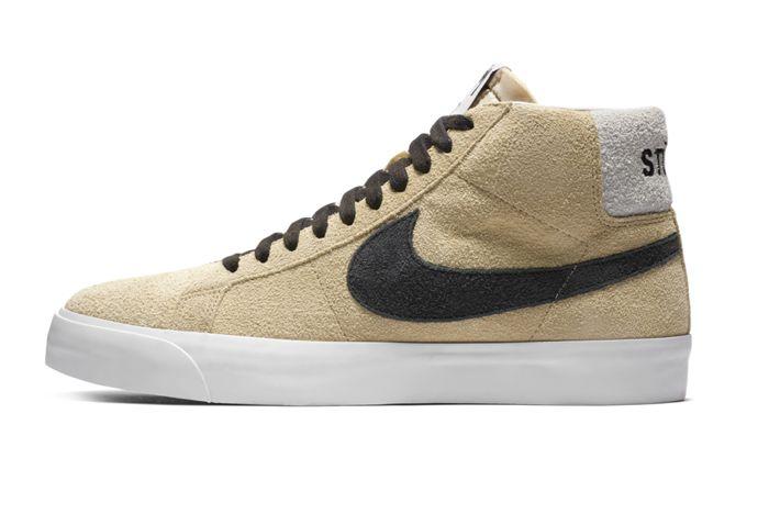 Stussy Nike Blazer Mid Lateral Side
