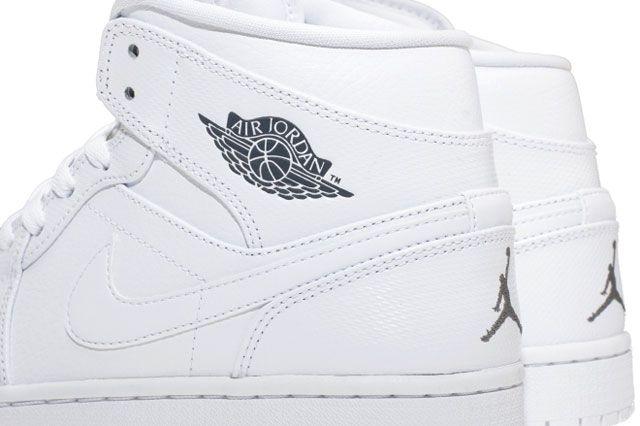 Air Jordan 1 Mid White Closeup