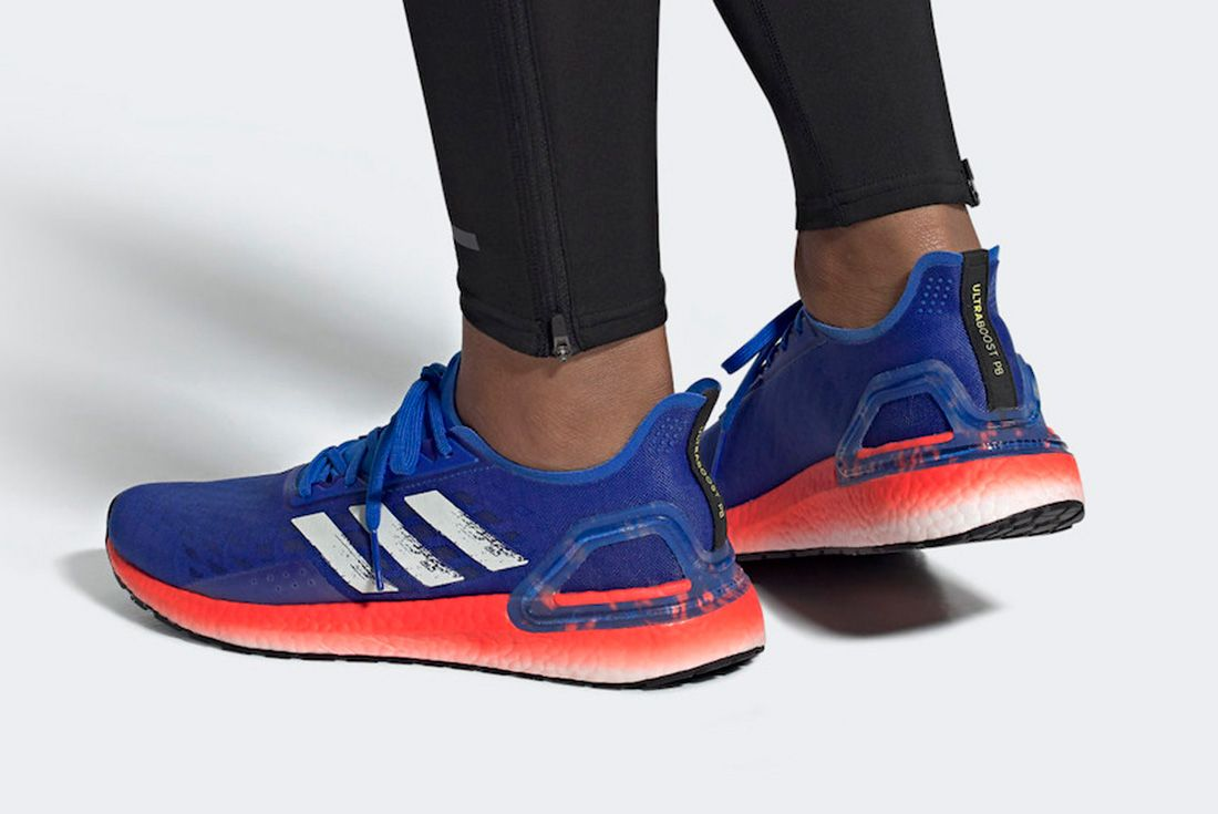 Adidas Ultra Boost Pb Glory Blue Solar Red Ef0893 Release Date Info 1 On Foot