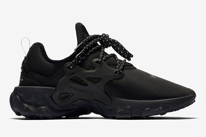 Nike React Presto Triple Black Av2605 004 Medial