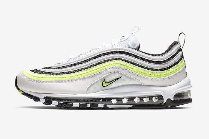 Nike Air Max 97 White Black Volt Reflective Release Date Lateral