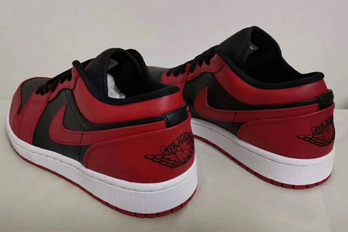 Air Jordan 1 Low Varsity Red Heel