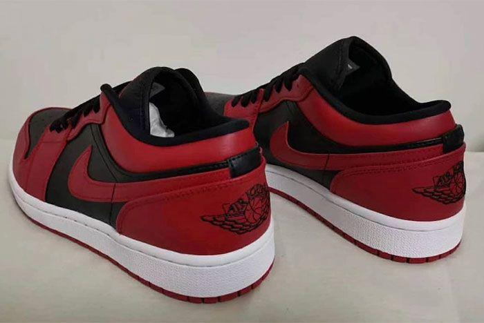 Air Jordan 1 Low Varsity Red Heel