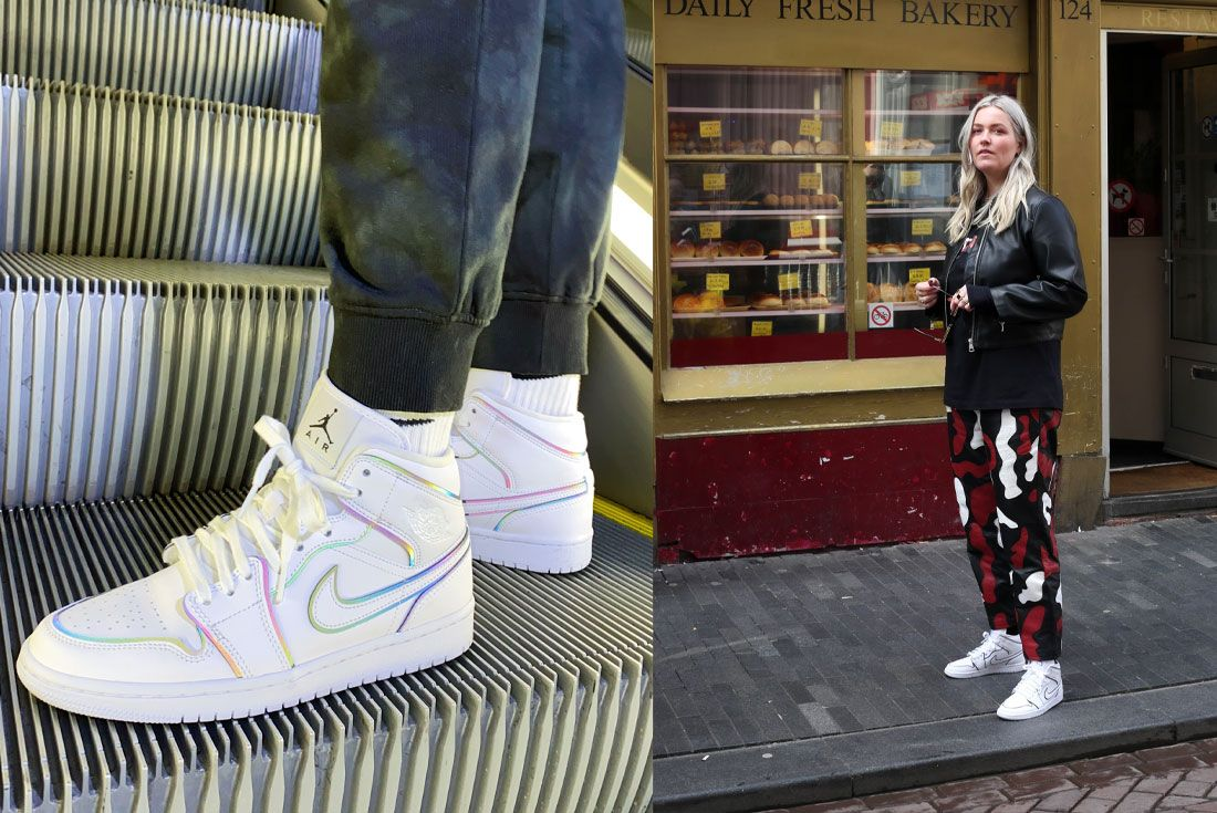 Snipes Air Jordan 1 Mid Womens Reflect On Foot Escalator