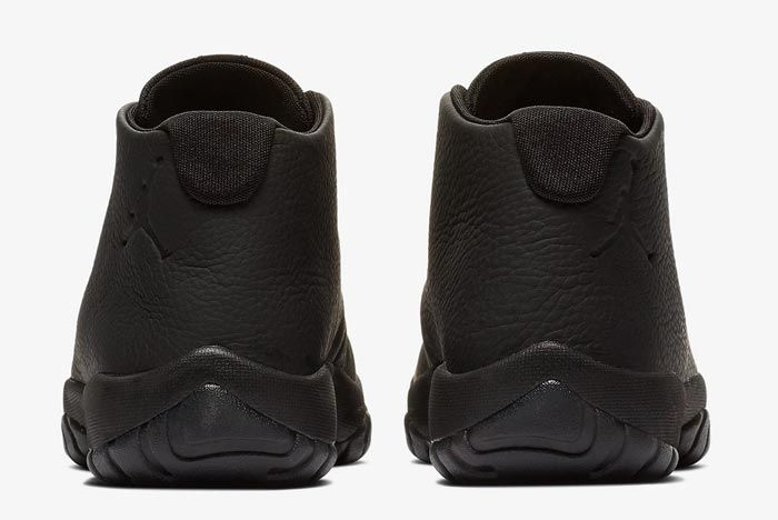 Jordan Future Triple Black Leather Heels