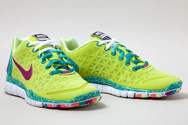 Nike Free Tr Fit 2 Green Purple Orange Pair 1
