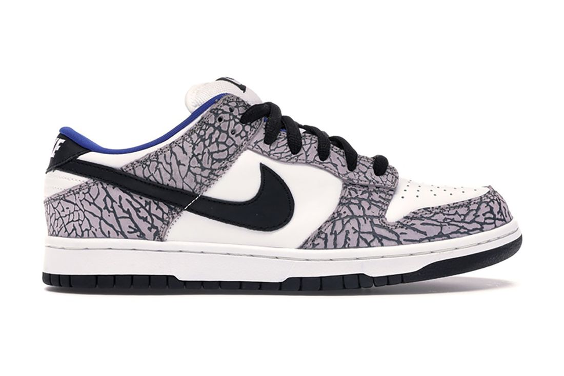 Supreme Nike Sb Dunk Low White Cement 304292 001 Lateral
