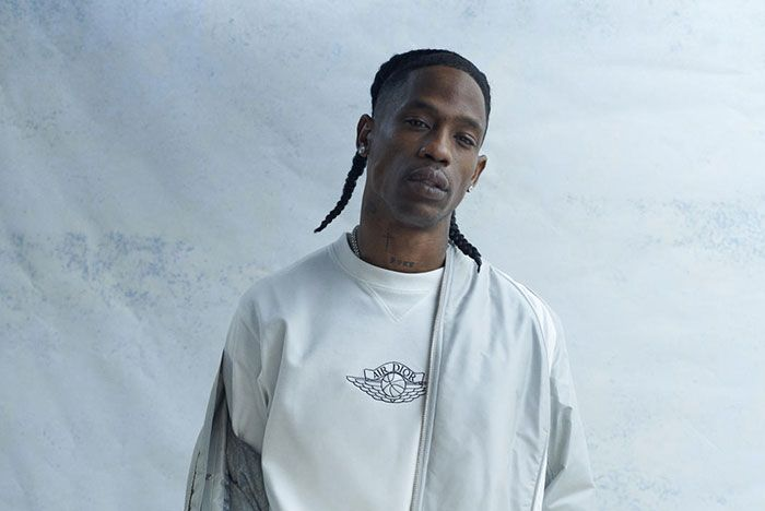 Travis Scott Wearing The Air Dior Collection Front Shot