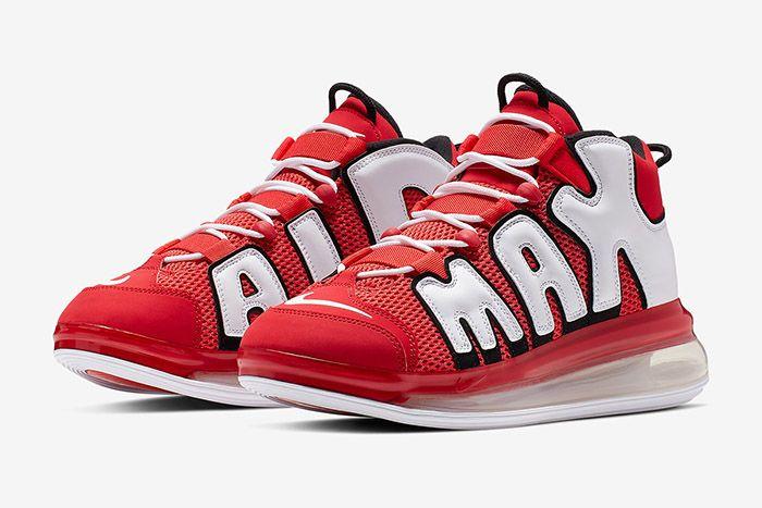 Nike Air More Uptempo 720 Hoop Pack Red Cj3662 600 Release Date Pair