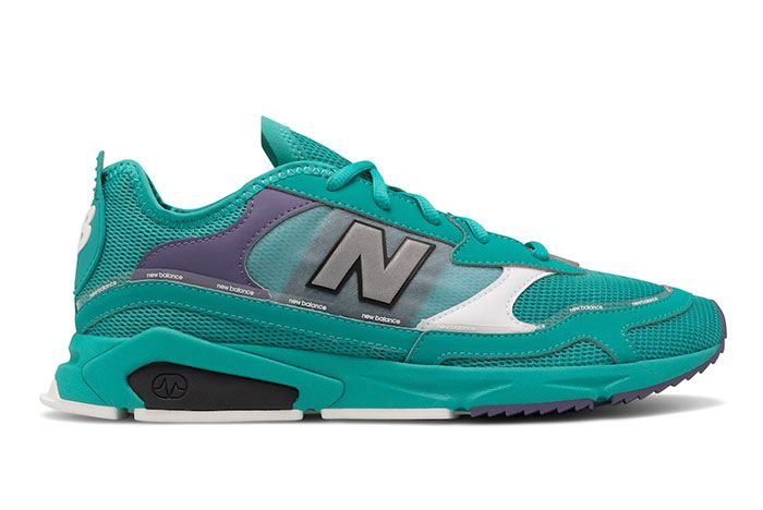 New Balance X Racer Teal Lateral
