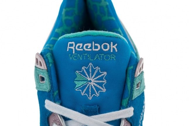 Reebok Ventilator Leopard Green Tongue Detail 1
