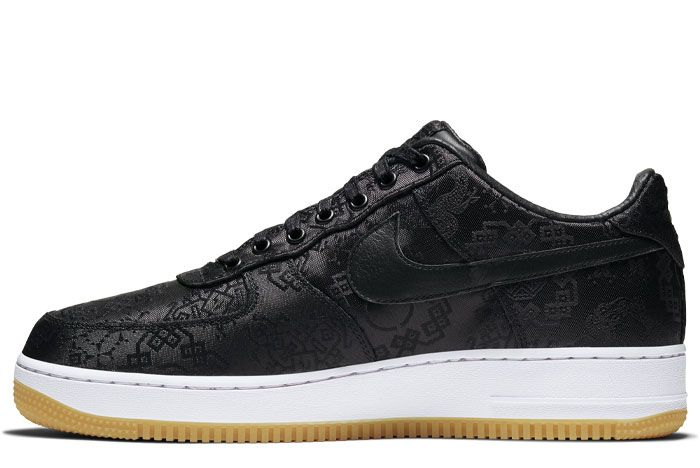 Nike Air Force 1 Clot Black Silk Left Medial