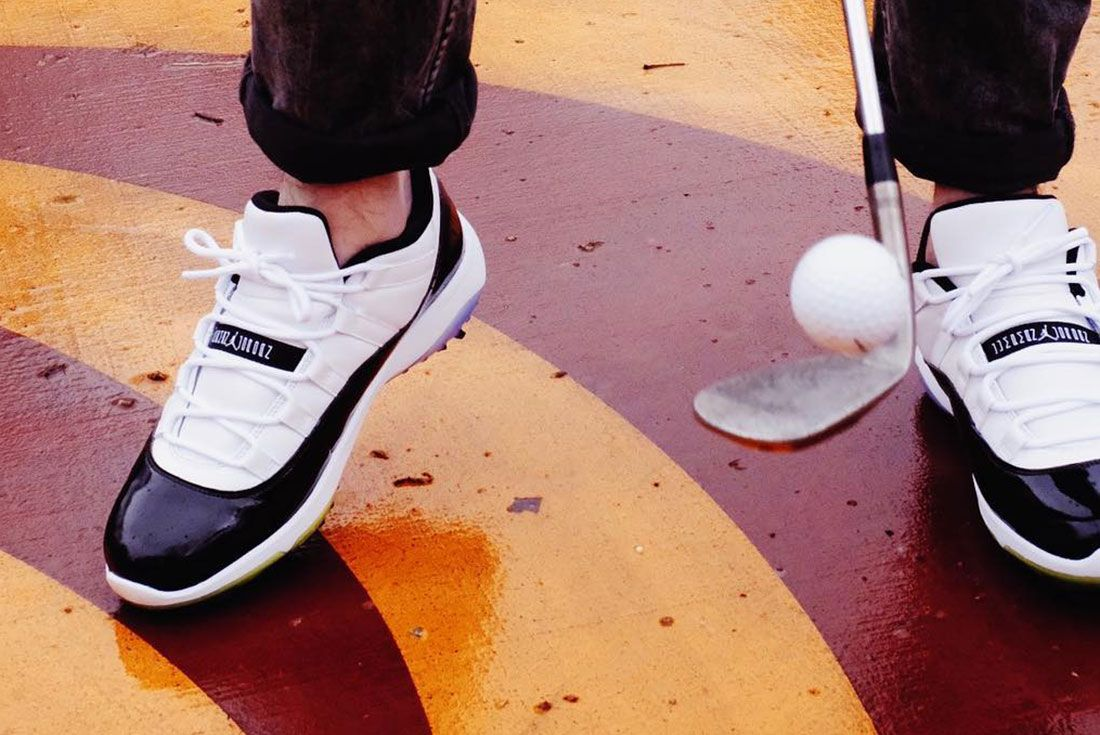 Air Jordan 11 Golf On Foot