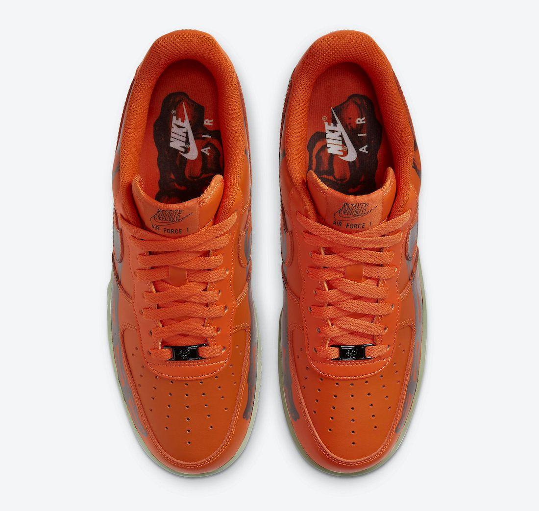Nike Air Force 1 Orange Skeleton