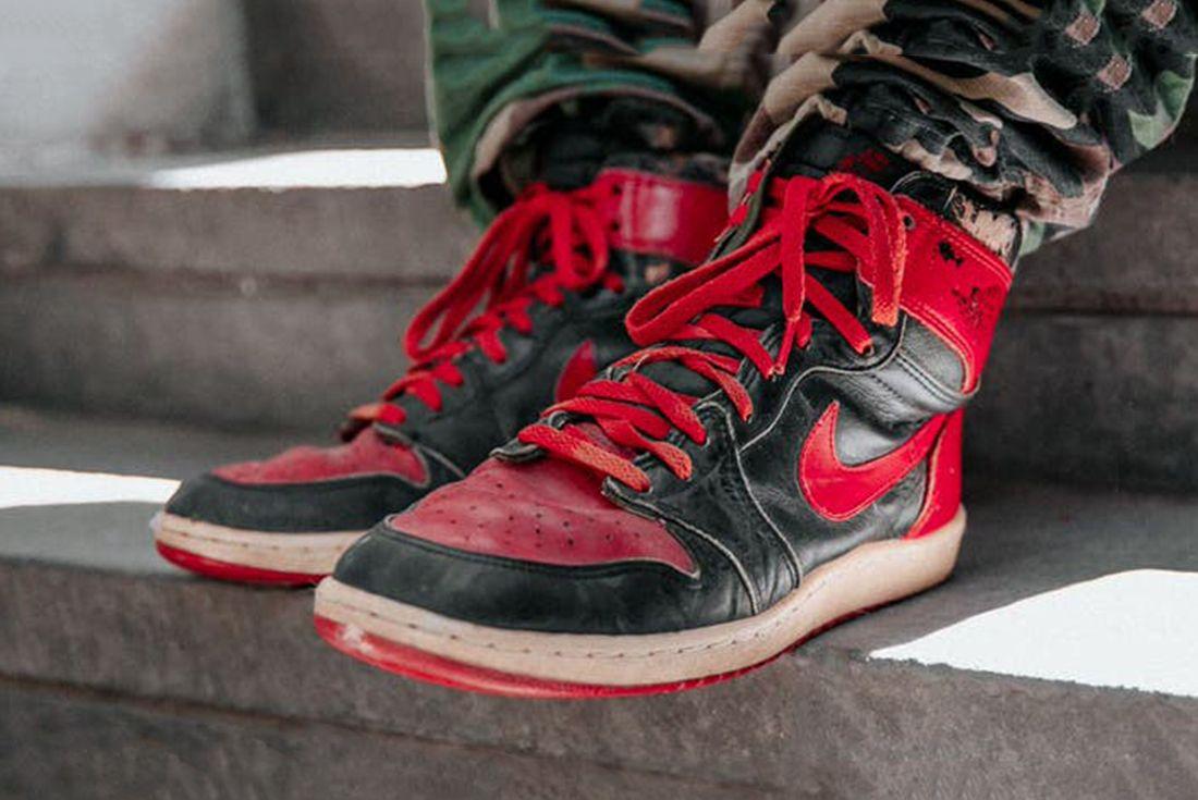 Beat up Air Jordan 1s