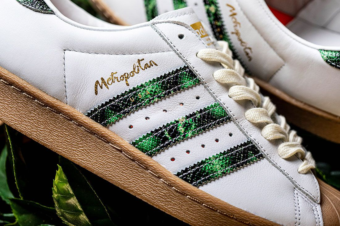 Adidas Skateboarding Metropolitan Superstar Stripe Close Up