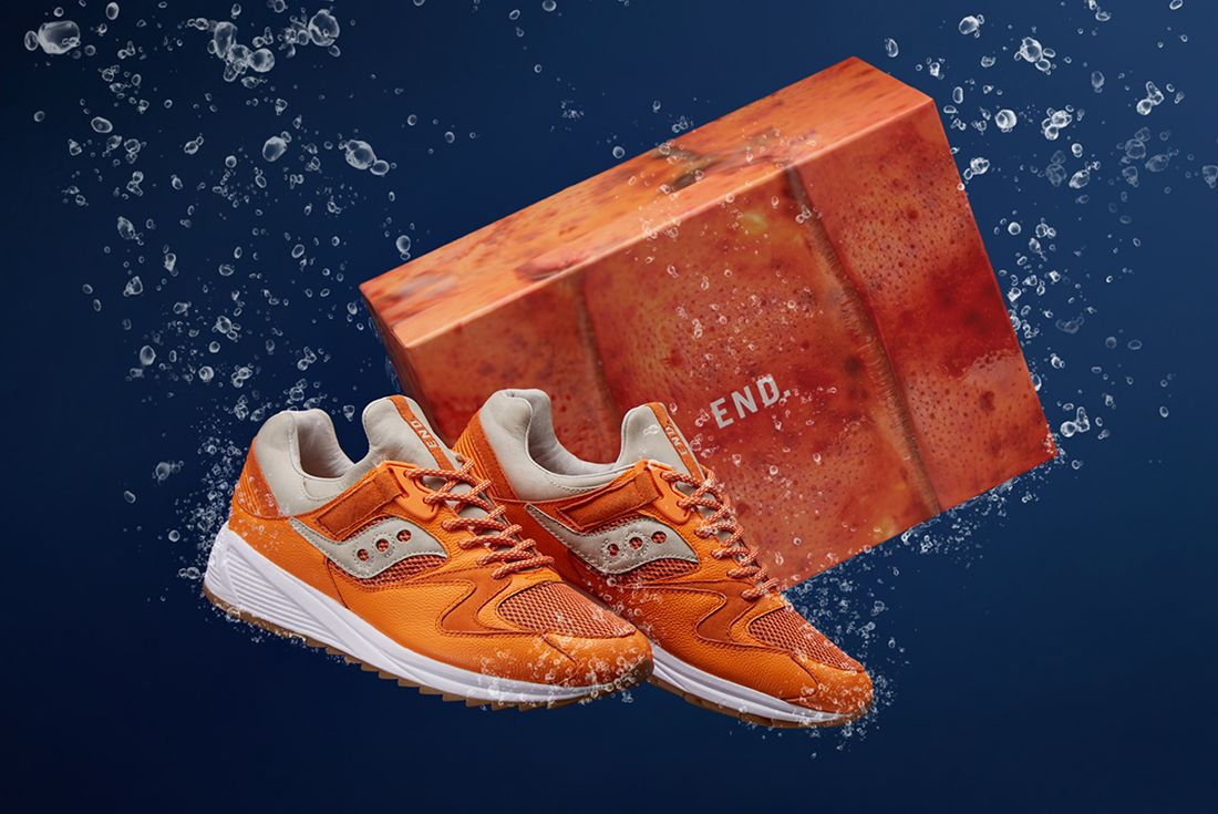 End X Saucony Grid 8500 Lobster 1