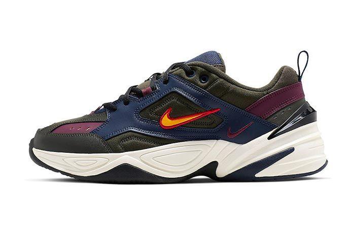 Nike M2K Tekno Bordeaux Midnight Navy Lateral