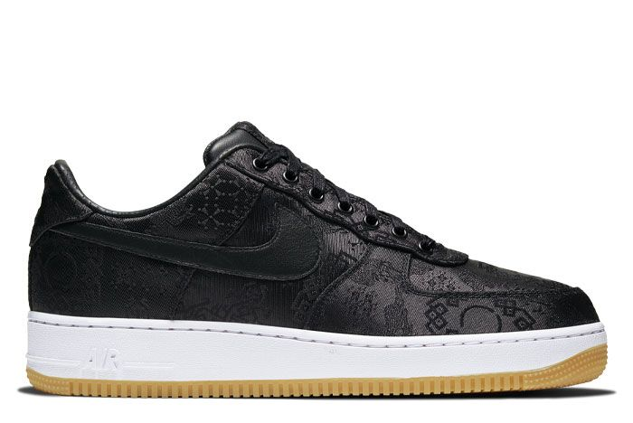 Nike Air Force 1 Clot Black Silk Right Lateral