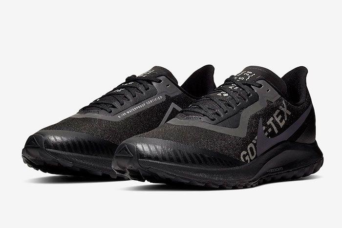 Nike Pegasus 36 Trail Gore Tex Bv7762 001 Front Angle