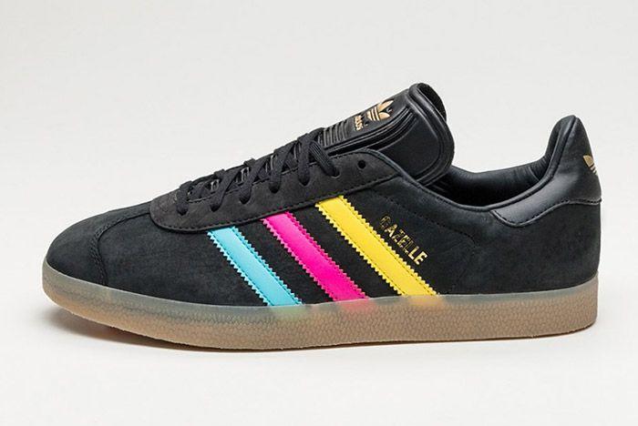 Adidas Gazelle Core Black Colour Stripe 3
